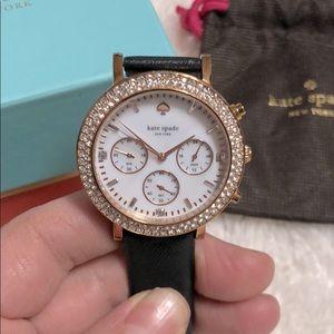 Kate Spade Metro Grand Crystal Bezel Watch